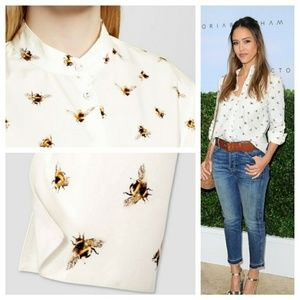 Victoria Beckham For Target Bee Print Shirt XS